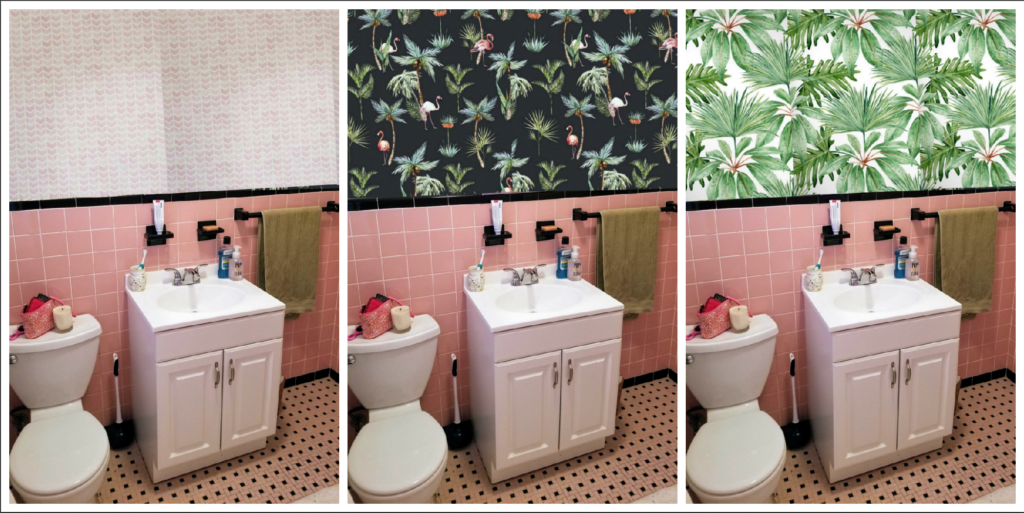 enchanting pink ceiling bathrooms | How To Save A Pepto-Bismol Pink Bathroom - life between ...